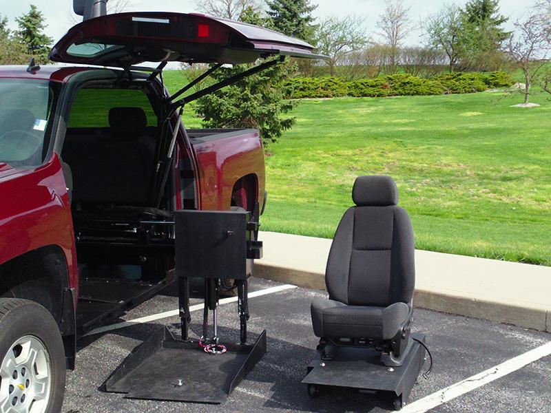 All Terrain Conversions (ATC) 45 Degree Platform Wheelchair Lift